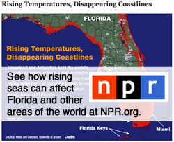 See how rising seas can affect Florida and other areas of the world at NPR.org