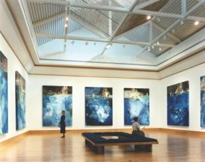 "Margaret Tolbert's 1997 exhibit ""Portals and Passages"" at The Arts Center, Northwest Florida College, Niceville, Florida. Photo by Jack Gardner."
