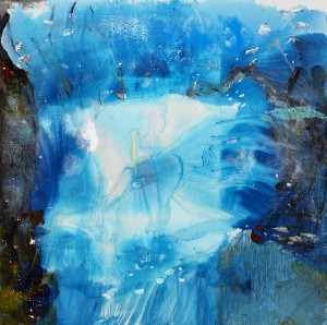 Entering the Springs (2006, oil and mixed media on canvas, 90 x 90 inches), photo by Randy Batista